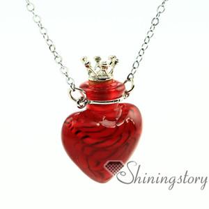 Colgantes de aromaterapia del corazón al por mayor collar de aceite esencial difusor difusor de aceite collar de joyería difusor de vial joyería al por mayor
