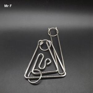 متعة كبيرة مثلث الدائري لغز أسلاك معدنية لغز منطق لعب الكبار دعامة اختبار الذكاء المخ دعابة