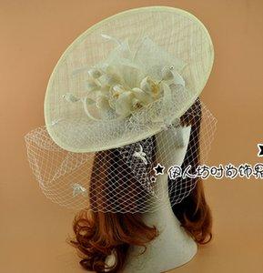 Lüks Bej Gelin Şapkalar Kadın Şapka Pillbox Fascinator Şapkalar Düğün Konuk Şapka Resmi Akşam Şapkalar Tüy Perching Fascinator
