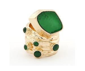 Минута.заказ $ 15 (mix order) -большой европейский и американский мода ретро темперамент простой капельное кольцо завод прямые-j176