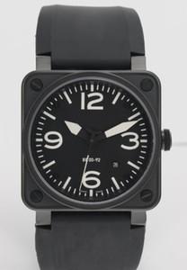 Hombres calientes de la venta Movimiento automático de lujo Mecánico Relojes de pulsera de goma Negro Marca suiza Fecha Inoxidable Vestido para hombre Relojes Precios bajos