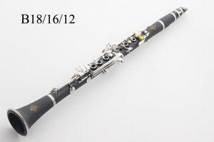Alta calidad Buffet B12 B16 B18 baquelita Bb Clarinet Tune 17 teclas clarinete Sib con la caja de accesorios Instrumentos de envío