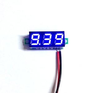 """Yeni 0.28 """"Süper Mini Dijital Mavi LED Ekran Voltmetre DC 3.5-30 V Volt Gerilim Panel Metre Pil Monitör Ücretsiz Kargo"""