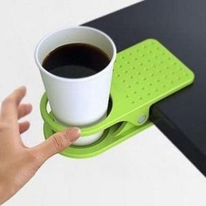 Heißer Verkauf Multicolor Tisch Glas Wasser Tassen Clip Drinklip stehen Clip Schreibtisch Halter Becher Home Office Tumblerful Glas Clamp Kostenloser Versand
