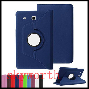 إلى Samsung Galaxy Tab 10.5 T580 T380 / T385 S2 T810 S3 T820 Tab E T560 T377 ipad 9.7 2017 Mini Leather Case 360 Rotating Magnetic Cover