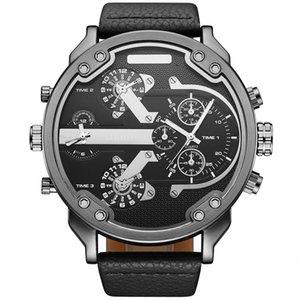 Neue luxus top Marke OULM Military Watch Männer Quarz Analog Leder Uhr Männer Sportuhr Armee Schwarz Uhren
