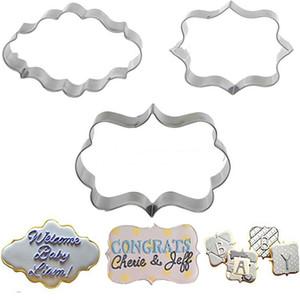 1 대 (3 개) 쿠키 과자 퐁당 금형 스테인레스 스틸 케이크 금형 Sugarcraft 장식 프레임 커터 도구