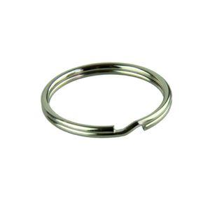 Essencial 50 pcs KeyRing Kay Cadeia 25mm Rodada Rodada Chave Anéis Keychain Com Niquelado llaveros 623