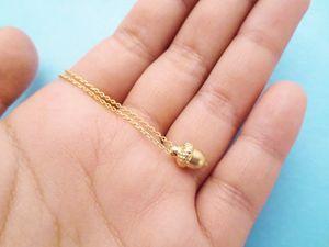 10 PCS- N130 Mignon Pinecone Collier Minuscule Gland Collier Minimal Dainty Pine Cone Collier Petit Écureuil Noix Colliers pour Cadeaux Chanceux