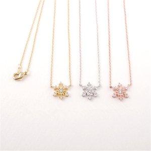 Collares pendientes de cristal Beautifu Copo de nieve copo de nieve de Europa y América Collar Popular 2016 Nueva Llegada para Sale21