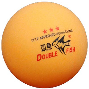 Wholesale- 30 Pcs Double Fish 3-Star (3Star, 3 Star) Orange 40mm Table Tennis ( Pong) Balls