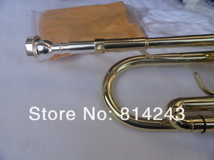 Bach TR700 Brass Bb Trumpet Gold Lacquer Surface B Flat Performance Musical Instruments Trumpet with Case Gloves Cleaning Cloth