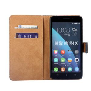Pour MOTO M G4 Jouer Huawei Honor 4X P8 Max Véritable Véritable Vrai Portefeuille Flip Étui En Cuir Poche ID Carte Titulaire Titulaire Livre Noir Peau Couverture De Luxe