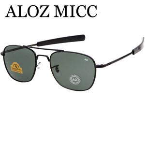Aloz micc neueste heiße armee ao pilot sonnenbrille für herren designer sonnenbrille luxus männer brille uv400 oku ross de sol - herren sonnenbrille a430