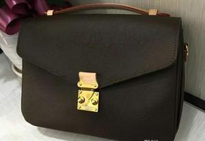 O envio gratuito de alta qualidade genuína bolsa de couro das mulheres pochette Metis sacos de ombro sacos crossbody messenger bagM40780