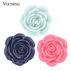 Noosa 18mm intercambiáveis botão resina flor gengibre pressão jóias vocheng (vn-496)