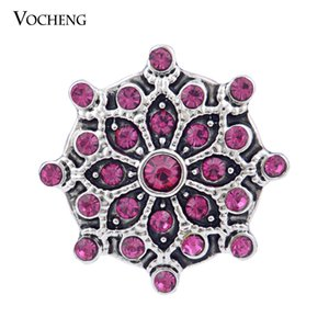 Vocheng Noosa 3 Colors Crystal Button 18mm Interchangable Snap Jewels (Vn-881)