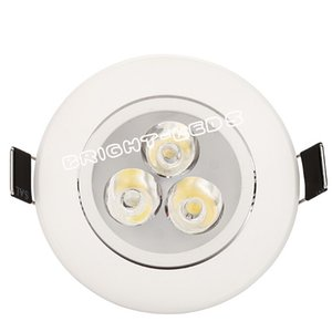 Hot Sales 9W 3X3W Dimmable Led Downlights Ceiling Light White Shell 45 Angle 600LM Led Down Lights Warm Natrual Cool White AC 110-240V