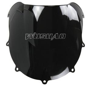 Motosiklet 1996-1999 Suzuki Için Çift Kabarcık Cam WindScreen GSXR600 GSXR750 GSXR 600 750 1997 1998 96 97 98 99 Siyah
