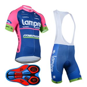 Lampre 2017 Mountain Racing Bike Cycling Clothing Set / Breathable Bicycle Cycling Jerseys Ropa Ciclismo / manga corta ciclismo ropa deportiva D0607
