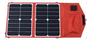 SUNPOWER 36 واط مرنة قابلة للطي شاحن لوحة للطاقة الشمسية + 10A تحكم للطاقة الشمسية للسيارة 12V / قارب البطارية + الهاتف المحمول / شاحن الكمبيوتر المحمول