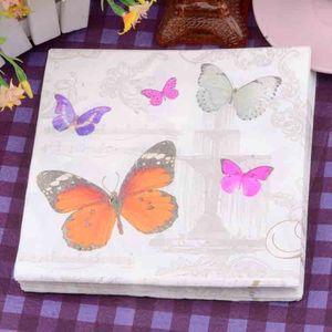Декоративные бабочки бумажные салфетки Рождество Салфетки 2 одноразовые мини-платок, салфетки для продажи SD914