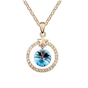 European and American high-end Necklace Korean Fashion Pendant Necklace Cricle necklace Jewelry For Women Best Gift NL-00344