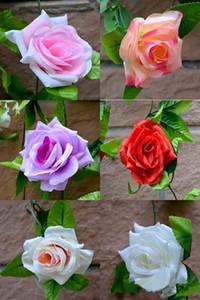 Les fleurs de simulation en gros canne 9 Roses canne mariage Vines Pipeline Parure feuille décorative vigne Lierre Couronne de Roses Rayonne pour décorer
