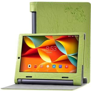 """1 adet Baskı Çiçek PU Deri Kılıf Standı Kapak Cilt için 10.1 """"Lenovo Yoga Tab 3 10X50X50L X50F Tablet + Ekran Koruyucu Koruyucu Film"""