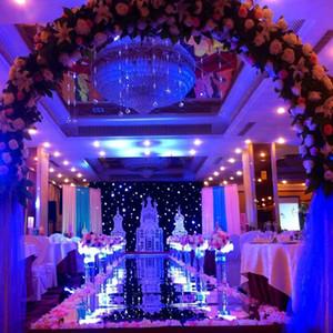 New Romantic Wedding Carpet Aisle Runner Oro Argento Double Side Design T Stazione Decorazione Bomboniere Tappeti