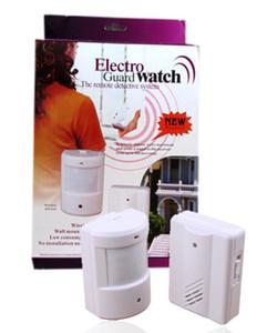 Новейший электро-охранник Watch Motion Sensor Alarm Door Bell Беспроводной инфракрасный охранный сигнализатор дверной звонок Chime Indoor Outdoor Use