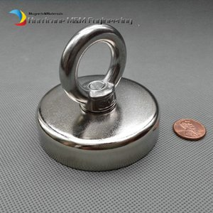 160kg Pulling Lifting Magnet Dia 75 x 18 mm M10 Countersunk Hole Mounting Magnetic Strong Pot Magnet Neodymium Permanent Magnets 3