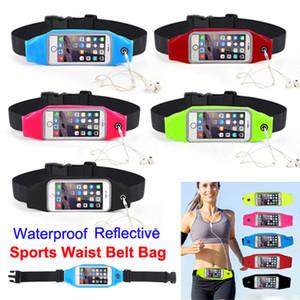 Impermeável correndo esporte cinto bolsa reflexivo elástico ajustável banda respirável cintura saco do telefone móvel para o iphone smartphone android