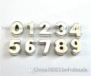 10 pz Numero Sliver Charms Galleggiante FC521 5-8mm Fit Charms Medaglione Memoria Magnete Vivente Vetro Galleggiante Locket Spedizione gratuita