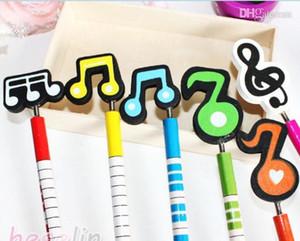 New Music Notation Karikatur hölzerne Bleistift-Neuheit-Schule-Briefpapier Bleistifte für Studenten Weihnachtsgeschenk