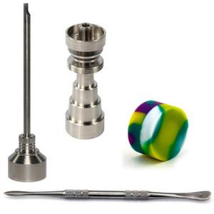 DHL freies Bong Werkzeug Set 10/14 / 18mm Domeless Gr2 Titan Nagel Carb Kappe Dabber Slicone Glas für Glas Bong Rauchen Wasserleitungen