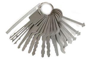 16pcs / set 자물쇠 따기 열쇠 자동 자물쇠 도구 자물쇠 따기에 대한 두드러진 자물쇠 따기 피킹 세트에 대한 Jigglers