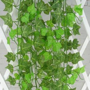 230cm / 7.5 ft lange künstliche Pflanzen grüner Efeu verlässt künstliche Weinrebe gefälschtes Laub verlässt Haupthochzeitsdekoration