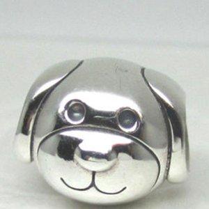 Perle de chien dévouée S925 en argent Sterling perle avec Cz clair s'adapte européenne Pandora Bijoux Bracelets Colliers Pendentif