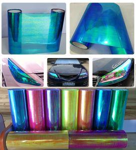 0.3x10m (1x33ft) nouvelle arrivée caméléon phare teinte bleu foncé pour la tête de voiture / sentier décoration livraison gratuite