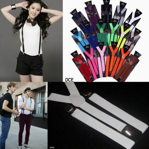 Kadınlar Erkekler Askılıklar Y-Shape Ayarlanabilir Braces tek Renk Fantezi Elbise Renkleri DEC * 10'u seçin