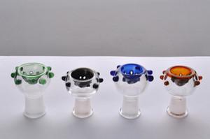 colorido 14 mm fêmea conjunta tigela de vidro para cachimbo Borbulhador de vidro e cinza presa bacia de tabagismo