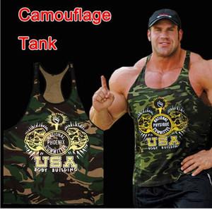 Hommes camouflage Gym Débardeurs Hommes entraînement coton Bodybuilding Imprimé Sans Manches Fitness Chemises Sport Gilets Muscle Undershirt