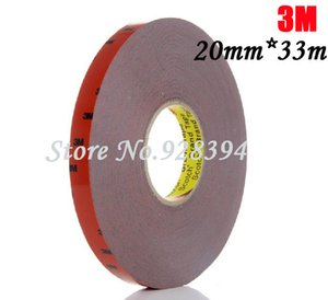Wholesale-1 Roll 20mm*33m 3M For Auto Truck Car Sticker Acrylic Foam Double Sided Attachment Strong Adhesive Tape Free Shipping