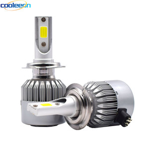 Cooleeon HL-C6 H1 H4 H7 LED Car Headlight H3 H8 H11 HB3 9005 HB4 9006 9012 9007 H13 6000K 72W 8000LM Auto Headlamp Light