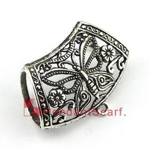 Nuevo Estilo de BRICOLAJE Colgante Bufanda Accesorios de La Joyería Metal Mariposa Diseño Charm Necklace Scarf Slide Bails, Envío Gratis, AC0380