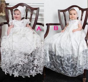 Beyaz Fildişi İlk Communion elbise A Hattı Dantel Aplike Cap Kollu Etek Çiçek Kız Elbise Pageant Elbise Çiçek kızın Elbiseler