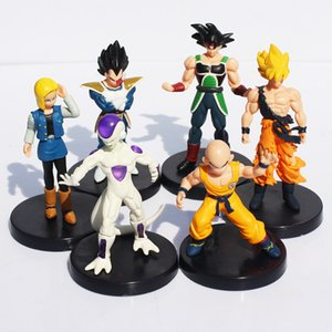 Gratis spedizione Retail 6PCS/SET Dragon Ball Z 5 & quot;Giocattolo Songukou Gogeta Gotenks Action Figure