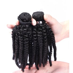 Brasilianisches Menschenhaar spinnt Tante Funmi Enge verworrene lockige unverarbeitete reine Menschenhaarverlängerungen Funmi Haar natürliche schwarze Farbe