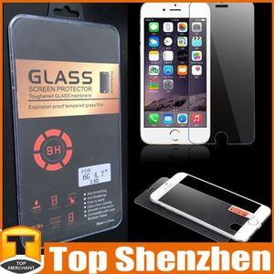 Vente chaude 2.5D Verre Trempé Protecteur D'écran 0.3mm Antidéflagrant Film Guard Pour Iphone 4 4S 5 5S 6 6 Plus Samsung S3 S4 S5 Note 3 Note 4